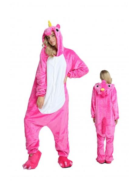 Rosa Einhorn Pyjama Onesies Weich Tier Kostüme Für Damen & Herren Schlafanzug Kostüm