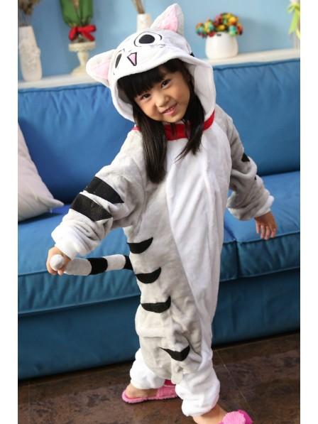 Getigerte Katze Pyjama Onesies Kinder Tier Kostüme Für Jugend Schlafanzug Kostüm