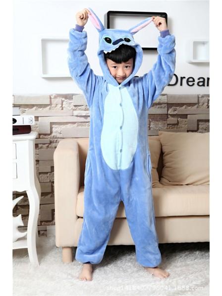 Blauer Stitch Pyjama Onesies Kinder Tier Kostüme Für Jugend Schlafanzug Kostüm