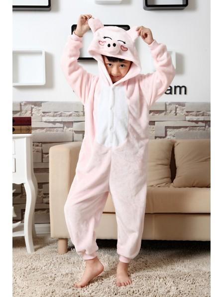 Pink Schwein Pyjama Onesies Kinder Tier Kostüme Für Jugend Schlafanzug Kostüm