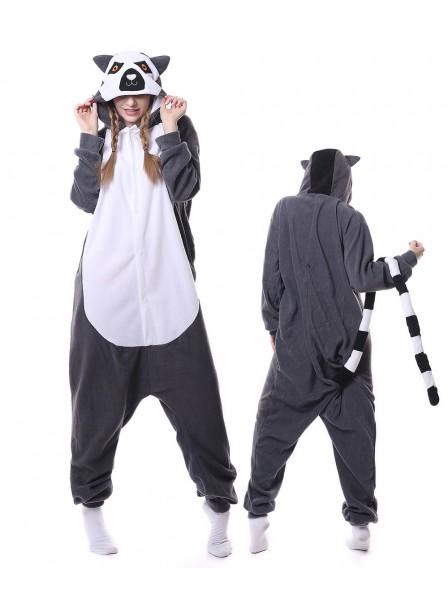 Lemur Pyjama Onesies Tier Schlafanzug Kostüm