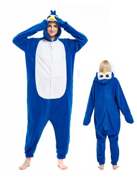 Blauer Pinguin Kigurumi Onesie Pyjamas Tier Unisex