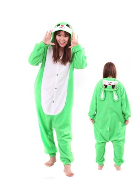 Grünes Häschen Pyjama Onesies Tier Schlafanzug Kostüm