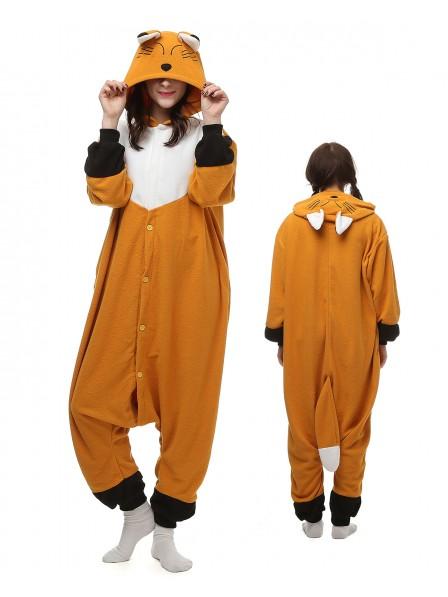 Japanischer Rotfuchs Pyjama Onesies Tier Kostüme Für Erwachsene Schlafanzug Kostüm