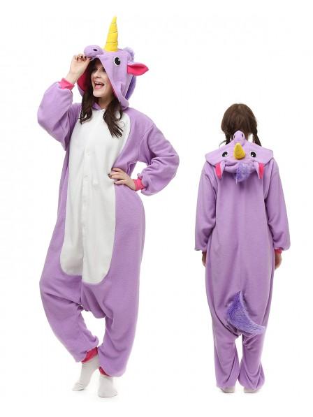 Violettes Einhorn Pyjama Onesies Tier Kostüme Für Erwachsene Schlafanzug Kostüm