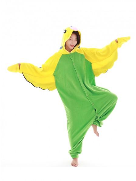 Grüner Wellensittich Pyjama Onesies Tier Kostüme Für Erwachsene Schlafanzug Kostüm