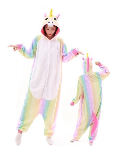 Pastell Hologramm Regenbogen Einhorn Pyjama Onesies Tier Kostüme Für Erwachsene Schlafanzug Kostüm