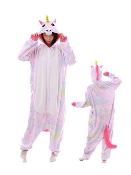 Pastell Traum Stern Einhorn Pyjama Onesies Tier Kostüme Für Erwachsene Schlafanzug Kostüm