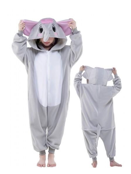 Grauer Elefant Onesie Kinder Tier Kostüme Für Jugend Schlafanzug Kostüm