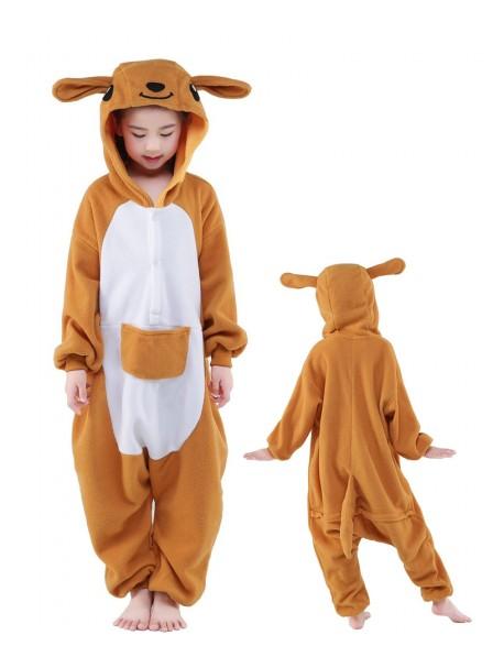Känguru Onesie Kinder Tier Kostüme Für Jugend Schlafanzug Kostüm